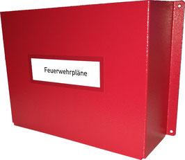 Feuerwehrpläne Wandhalterung | Feuerwehrplandepot A4 inkl. 1 FW-Ringordner A4 schmal