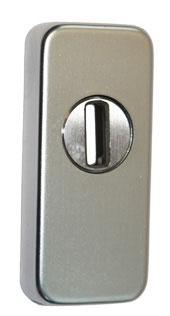 Schiebe-Schutzrosette für Metalltüren, mit Kernziehschutz, eckig