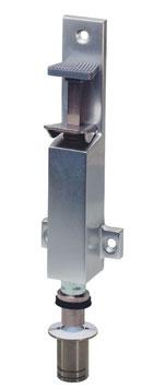 KWS Türfeststeller 1039 | 30 mm Hub | mit Bodenbuchse aus Edelstahl-Rostfrei