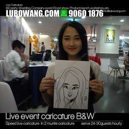 Live #caricature black and white A4 for all kinds of events and partys