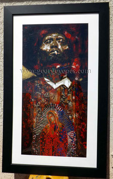 Bullet Proof Hand Painted Giclee Print on Paper (Framed)
