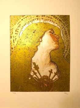 Sabattier Dolorosa Hand-pulled Limited Edition Silkscreen Prints