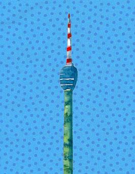 Grußkarte Stuttgarter Fernsehturm