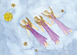 Grußkarte Fliegende Engel