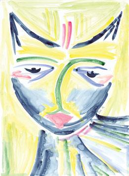 Grußkarte Katze II