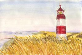 Grußkarte Lister Leuchtturm, Sylt