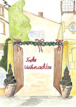 Grußkarte Weihnachten Helfferichstraße