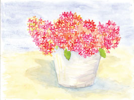 Grußkarte Hortensien