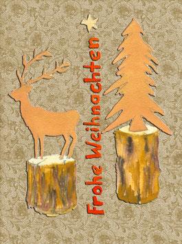 Grußkarte Holzfiguren