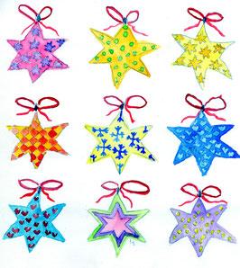 Grußkarte Neun Sterne