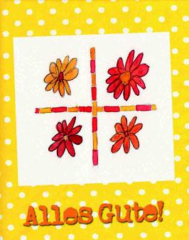Grußkarte Blumengruß