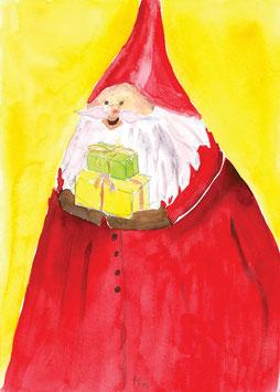 Grußkarte Dicker Nikolaus