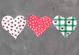 Grußkarte Hearts on steel