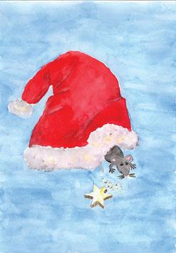 Grußkarte Nikolausmütze
