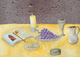 Grußkarte Abendmahl