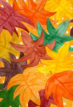 Grußkarte Herbstblätter