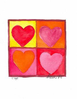Grußkarte Hearts