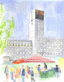 Grußkarte Rathaus Stuttgart