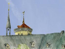 Grußkarte Stiftskirche/Neues Schloss