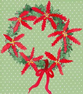 Grußkarte Weihnachtskranz