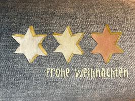 Grußkarte Jeans-Sterne