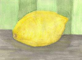 Grußkarte Zitrone