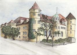 Grußkarte Altes Schloss, Stuttgart