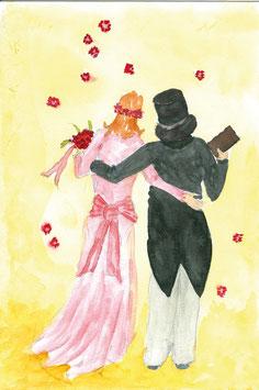 Grußkarte Brautpaar