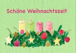 Grußkarte Adventsgesteck
