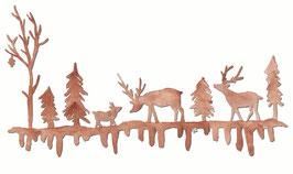Grußkarte Waldgirlande