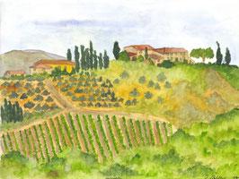 Grußkarte Mercatale, Chianti