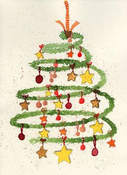 Grußkarte Weihnachtsspirale
