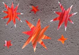 Grußkarte Sternenwand