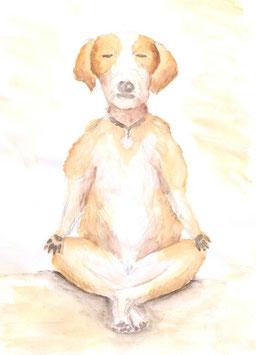 Grußkarte Yoga-Hund