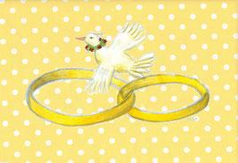 Grußkarte Hochzeitsringe
