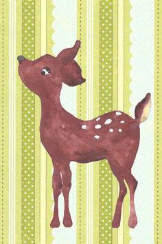 Grußkarte Bambi