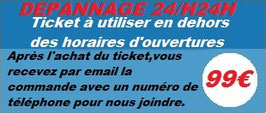 Ticket dépannage 24h/24h