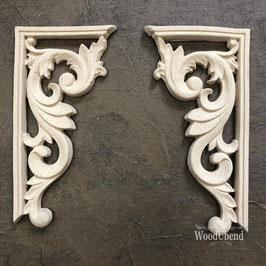 WoodUbend Barock Corner 2pcs. - SET; 12,5 x 6,5 cm #2100