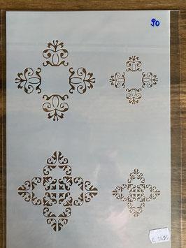 Schablone DIN A4 No.90