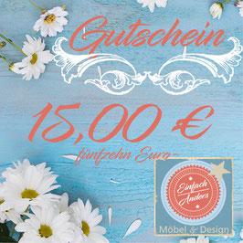 Gutschein 15,00€