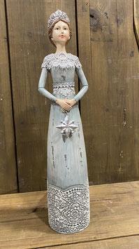 Lady grau mit Stern