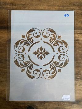 Schablone DIN A4 No.20