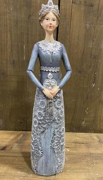 Lady grau mit Kette