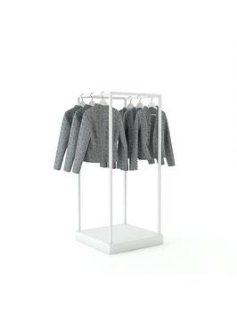 Kleiderständer Kia, Metall weiss