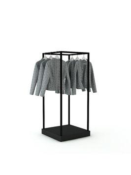 Kleiderständer Kia, Metall schwarz