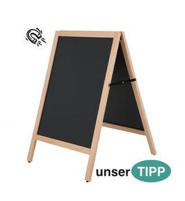 Kundenstopper A Board natur Aussenbereich