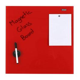 Magnetische Glas Platte rot