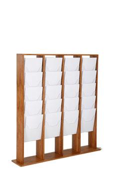 Prospektständer Holz Magazinständer 4x5 X A4 (je Seite)