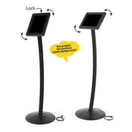 Tablet-Kiosk Universal, gebogen