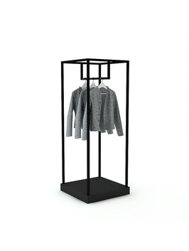 Kleiderständer Pan, Metall schwarz